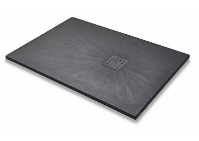 Kartell-1200mm-x-800mm-Rectangal-Slate-Effect-Shower-Tray-Black-1