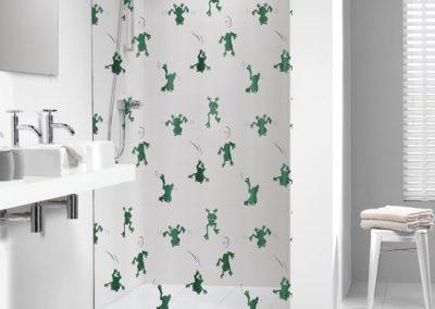 Tiger Douchegordijn Frog Freddy groen