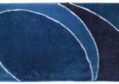 Tiger badmat blauw
