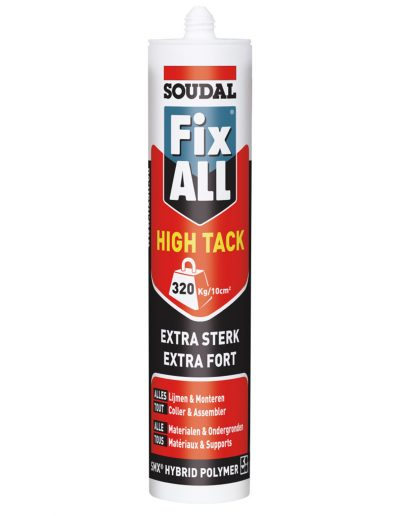 Fix All high tack lijmen monteren