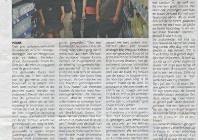 30 jaar Bouwmarkt Rosiers Puurs Publi nieuws