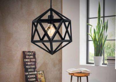 Embleton zwart vintage hanglamp