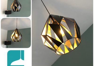 Eglo Carlton1 hanglamp bij klant Bornem